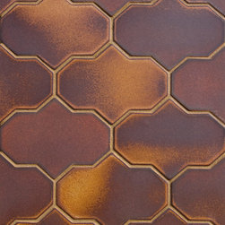 Modern Morocco - Square Lantern pattern is a more masculine take on a traditional arabesque shaped tile. Add interest to a kitchen or outdoor space.