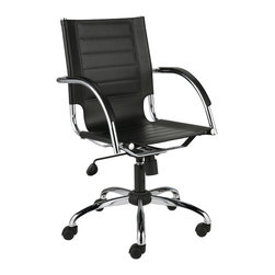 Eurostyle - Dave Office Chair-Black - This remarkable chair embraces an airy design, yet still conveys sturdy support. You get a seating area that almost hovers over the base, plus the backrest features side cutouts, also providing supple comfort and appeal.