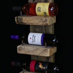 RECLAIMED WOOD WINE RACKS - Made from 300 to 400 year old white pine that was reclaimed from the Old Globe grain elevator built in 1887.