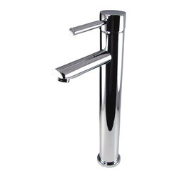 Fresca - Fresca Tolerus Single Hole Vessel Mount Bathroom Vanity Faucet - Chrome - This single hole / vessel faucet is made from heavy duty brass with a chrome finish.  Features ceramic mixing valve for longevity and watertight functionality.