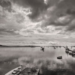 images by jon evan - Bay Area Boats - This image was photographed near Maine at one of the many harbors. This photograph measures 32x48 and is mounted on a hard backing ready to hang. It ships directly from manufacturer.