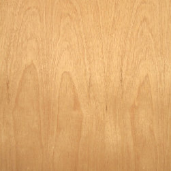 Cabinet B Grade Mahogany Veneer - Cabinet grade African mahogany veneer pinkish brown to reddish brown medium grain wood. This veneer is a lower B grade and typically has defects such as pin knots and worm holes. This grade of mahogany wood veneer is usually used in areas of less visibility where wood veneer is still needed. Available in a limited size and paperbacked sheet.