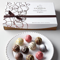 Godiva - Godiva 24-Piece Ultimate Dessert Truffles Gift Box - Godiva's chef chocolatiers are pleased to present their latest creations—meticulously crafted and inspired by the most exquisite desserts from classic American bakeries and fine European patisseries. Limited edition eight-piece Duff Goldman cake....