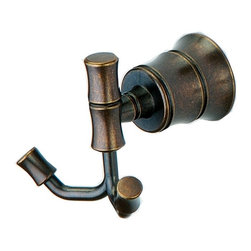 Pegasus - Bamboo Double Robe Hook - 581B 2296H - Manufacturer SKU: 581B 2296H. Heritage bronze color. Weight: 1 lbs.