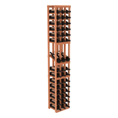 Wine Racks America - 3 Column Display Row Wine Cellar Kit in Redwood, (Unstained) Redwood - Make your best vintage the focal point of your wine cellar. High-reveal display rows create a more intimate setting for avid collectors wine cellars. Our wine cellar kits are constructed to industry-leading standards. You'll be satisfied. We guarantee it.