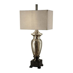Crestview Collection - Crestview Collection CVABS561 Antique Murcury Glass Table Lamp - Crestview Collection CVABS561 Antique Murcury Glass Table Lamp