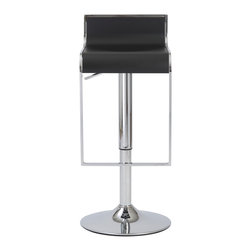 Eurostyle - Fortuna Bar/Counter Stool-Black/Chrome - When you gaze at this gorgeous stool, you can't help but admire the soothing curves that flow from the backrest and down through the seating area. There's also the lively sheen on the footrest and frame, further contributing to its sleek appeal.