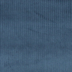 Blue Stripe Corduroy Velvet Upholstery Fabric By The Yard - This velvet fabric has a unique corduroy pattern. This fabric is durable, easy to clean and is great for indoor upholstery.