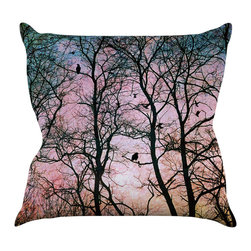 """Kess InHouse - Sylvia Cook """"The Birds"""" Throw Pillow (20"""" x 20"""") - Rest among the art you love. Transform your hang out room into a hip gallery, that's also comfortable. With this pillow you can create an environment that reflects your unique style. It's amazing what a throw pillow can do to complete a room. (Kess InHouse is not responsible for pillow fighting that may occur as the result of creative stimulation)."""