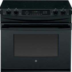"""GE - JD630DFBB 30"""" Drop In Electric Range With Flush Appearance  Big View Oven Window - The JD630 comes with a big View Oven Window so you can see the progress of your food as it cooks to perfection"""