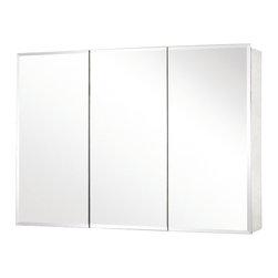"""Pegasus - Pegasus 26 x 48 Medicine Cabinet with Tri-View Beveled Mirror (SP4588) - Pegasus SP4588 26"""" x 48"""" Medicine Cabinet with Tri-View Beveled Mirror"""