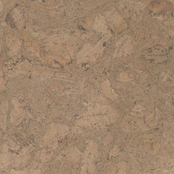 Colored Cork Tiles in Nugget Texture - Bleached colored Nugget textured cork tiles for flooring from Globus Cork. 25 shapes. Made in the USA