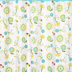 Sweet Jojo Designs - Layla Shower Curtain by Sweet Jojo Designs - The Layla Shower Curtain by Sweet Jojo Designs, along with the  bedding accessories.