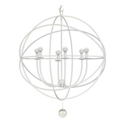 "Z Gallerie - Eclipse Chandelier, White - I love the airy quality of these Eclipse chandeliers. They are the perfect balance for a room that already has some heavy furnishings. This piece is extra ""airy"" due the lightening quality of the white."