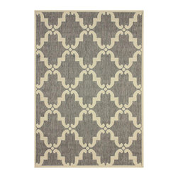 Nuloom - nuLOOM Modern Indoor/ Outdoor Moroccan Trellis Grey Rug (5' 3 x 7' 9) - This modern trellis indoor outdoor area rug is made of polypropylene that is easy to clean and stain and mildew-resistant. This moroccan trellis outdoor and indoor rug promises durability and beautiful versatile colors that will match your decor.