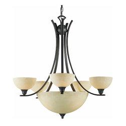 Triarch International - Triarch 29765-BZ Luxor Oil Rubbed Bronze 8 Light Chandelier - Triarch 29765-BZ Luxor Oil Rubbed Bronze 8 Light Chandelier
