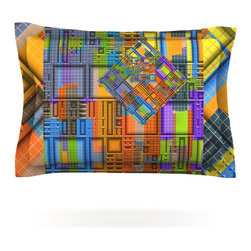 """Kess InHouse - Michael Sussna """"Tile Rep"""" Abstract Pillow Sham (Cotton, 30"""" x 20"""") - Pairing your already chic duvet cover with playful pillow shams is the perfect way to tie your bedroom together. There are endless possibilities to feed your artistic palette with these imaginative pillow shams. It will looks so elegant you won't want ruin the masterpiece you have created when you go to bed. Not only are these pillow shams nice to look at they are also made from a high quality cotton blend. They are so soft that they will elevate your sleep up to level that is beyond Cloud 9. We always print our goods with the highest quality printing process in order to maintain the integrity of the art that you are adeptly displaying. This means that you won't have to worry about your art fading or your sham loosing it's freshness."""