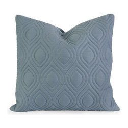 IMAX CORPORATION - IK Kavita Blue Linen Quilted Pillow w/ Down Fill - Iffat Khan has developed a luxurious collection of down pillows with quilted details and top of the line fabrics. Iffates refined aesthetic is evident in her collection which combines clean modern, classic casual and timeless traditional styles with her own creative twist. Find home furnishings, decor, and accessories from Posh Urban Furnishings. Beautiful, stylish furniture and decor that will brighten your home instantly. Shop modern, traditional, vintage, and world designs.
