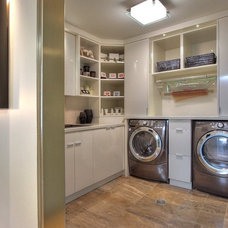 Modern Laundry Room by Syberg Designs