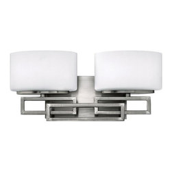 Hinkley - Hinkley Lanza 2-Light Antique Nickel Vanity - 5102AN - This 2-Light Vanity is part of the Lanza Collection and has an Antique Nickel Finish. It is Damp Rated.