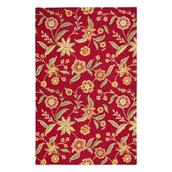 Rizzy Rugs - Country & Floral Country 8'x10' Rectangle Red Area Rug - The Country area rug Collection offers an affordable assortment of Country & Floral stylings. Country features a blend of natural Red color. Hand Tufted of New Zealand Wool Blend the Country Collection is an intriguing compliment to any decor.