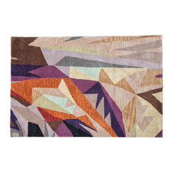 You Are Already Here Rug - Wild shapes and sophisticated colors make this area rug a great choice for the modern home. Use it in your entry way or living space for bold pop of color and design. Its hand-tufted wool and cotton will welcome your feet in cozy comfort for years to come.