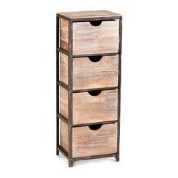Talford Four Drawer Storage Cabinet - It may hold heirloom linens, a collection of travel mementos, delicate paper ephemera, a collection of periodicals. The Talford Four Drawer Storage allows for the stylish containment of those things you hold dear, all the while serving as a striking accent piece among your transitional furnishings. A blend of raw iron and natural wood, the piece imparts an air of rustic refinement to your home.