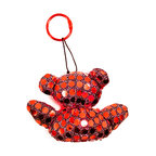 Freddy Dico - Sequins Ornament Teddy Bear Keychain (Crystal Heart) - Adorned in 'mirror' sequins, this handcrafted ornament keychain holds a natural crystal 'heart', safeguarding the keys to your home/heart.