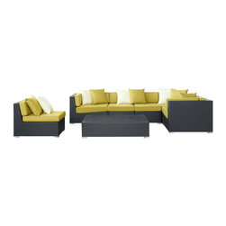 Lambid 7-Piece Outdoor Patio Sectional Set - Plumb the depths to stimulate the creative faculties. Decipher the enigmatic and perfect awareness will emerge. Lambid's spaciousness will unravel riddles and enhance the senses while you correctly demonstrate the ability to imagine.