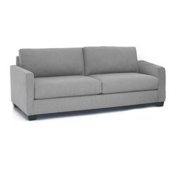 Apt2B - Tuxedo Sofa - Best dressed. This sofa has an uptown elegance that works beautifully in your modern-day home. Features a solid hardwood frame and upholstered in a stain-resistant microfiber fabric. Each piece is expertly handmade in the USA.