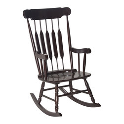 Gift Mark - Gift Mark Home Kids Children Adult Rocking Chair Espresso Finish - Our Adult sized Rocking Chair, is just like the One that Grandma Used. This Heirloom quality Rocking Chair is made of Solid Wood. The Rocking Chair is Handcrafted used all Natural Wood. This top of the Line Gift mark Adult Rocking Chair can be used for Generations.