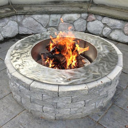 Outdoor firepit stainless steel -