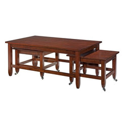 Broyhill Furniture - Counterparts Bunching Rectangular Cocktails Table and End T - Set includes Coffee and End Table
