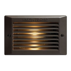 Hinkley - Hinkley 1-Light Bronze Step Light - 58009BZ - This 1-Light Step Light is part of the Line Voltage Deck Collection and has a Bronze Finish. It is Outdoor Capable.