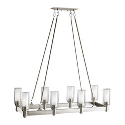 Kichler Lighting - Kichler Lighting 2943NI Circolo Nickel 8 Light Chandelier - Kichler Lighting 2943 Circolo 8 Light Chandelier