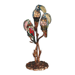 "Dale Tiffany - Dale Tiffany TA60179 23.5"" Three Light Parrot Accent Lamp - Dale Tiffany TA60179 23.5"" Three Light Parrot Accent LampAugment the lighting in your room with this unique 23.5"" Three Parrot Accent Lamp with Medium Base. This Table Lamp is a great way to add sophistication to your home.Dale Tiffany TA60179 Features:"