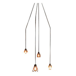 The Pepin Shop - Chandelier Cage Filament Pendant Age Steel - Original Lamps from 20th-century industrial lighting.