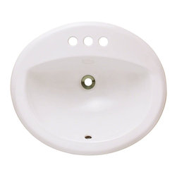 "MR Direct - MR Direct O2018-B Bisque Overmount Bathroom Sink - The O2018-Bisque porcelain overmount sink is made from true vitreous China which is triple glazed and triple fired to ensure your sink is durable and strong.  Our bisque color is a beige hue that contains a yellow tint. An overmounted vanity sink is traditionally found in most bathrooms and can be used with any type of countertops. The overall dimensions for the O2018-bisque are 20"" x 18"" x 8 1/2"" and requires a 21"" minimum cabinet size. Pop-up drains in a variety of finishes are available with this sink model. As always, our porcelain sinks are covered under a limited lifetime warranty for as long as you own the sink."