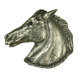 Anne at Home Hardware - Horse 'N Rope Knob, Black w/ Chocolate Wash - Made in the USA - Anne at Home customized cabinet hardware enables even the most discriminating homeowner to achieve the look of their dreams.  Because Anne at Home cabinet hardware is designed to meet your preferences, it may take up to 3-4 weeks to arrive at your door. But don't let that stop you - having customized Anne at Home cabinet knobs and pulls are well worth the wait!- Drill Centers - 3  - Available in many finishes.