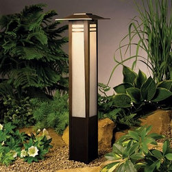 "Kichler Lighting 15392OZ Zen Garden Path Bollard Light, Olde Bronze® - Get 10% discount on your first order. Coupon code: ""houzz"". Order today."
