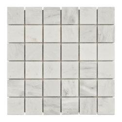 Carrara White Marble Mosaic -