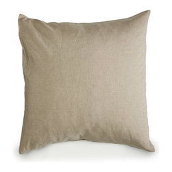 Libeco - Heritage Bed Linen Collection - Pillow Sham, Flax, Standard - In terms of both ecology and sustainable development, linen is a real champion. This organic Heritage collection sets the bar even higher. Certified by GOTS, this collection is produced in the most environmentally and socially responsible manner.  Available in Oyster and Flax.