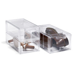 modern clothes and shoes organizers by The Container Store