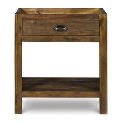 River Ridge 1 Drawer Nightstand - Distressed Natural - The simple, eye-catching design of the River Ridge 1 Drawer Nightstand - Distressed Natural makes it the perfect place to place an interesting lamp or store your bedside remote. One drawer provides just enough storage for small items, while the open shelf below is ideal for displaying favorite books or accessories. The chunky metal hardware, rough-hewn antique look, and distressed natural finish combine to create a look that's both timelessly rustic and distinctively urban. Part of the River Ridge collection.About Magnussen FurnitureFrom its beginning as a small furniture company in Ontario, Canada, Magnussen Furniture has evolved into a full-line furniture resource with offices in Canada, the United States, and the Far East. Their business is creating furniture designs of exceptional style, value, and beauty. They produce these designs in partnership with manufacturing partners around the world that meet exacting standards for superior quality at the best possible value.