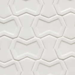 Vibe Parker Mosiac Field in White Gloss - Ceramic and Terracotta