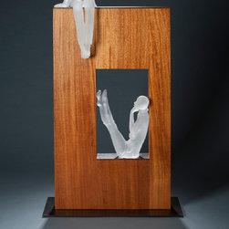 Art glass sculpture-CONVERSATION...7 -