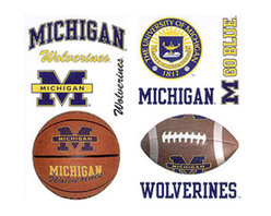 York Wallcoverings - NCAA Michigan Wolverines 21pc College Wall Accent Stickers - Features: