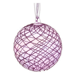 Silk Plants Direct - Silk Plants Direct Glass Glitter Swirl Mesh Pattern Ball Ornament (Pack of 8) - Silk Plants Direct specializes in manufacturing, design and supply of the most life-like, premium quality artificial plants, trees, flowers, arrangements, topiaries and containers for home, office and commercial use. Our Glass Glitter Swirl Mesh Pattern Ball Ornament includes the following: