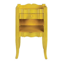 Emily Antique Yellow Side Table