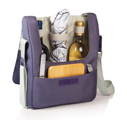 Picnic time - Tivoli- Insulated 2 Bottle Wine Tote for 2 -Aviano - The Tivoli from Picnic Time's Aviano Collection is a two-bottle wine tote with wine and cheese amenities that is the perfect companion for wine tasting trips. It comes with two PS wine goblets, a corkscrew, bottle opener, cheese knife and cheese board, and two cloth napkins. Load the tote with two bottled beverages, buy a wedge of nice cheese and crackers, and all you have left to do is enjoy!